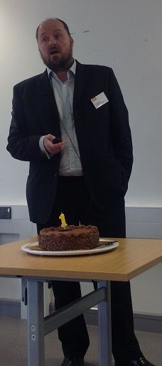 Karl Molden and a cake