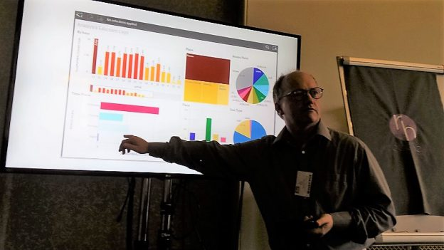 Ian Scott presenting