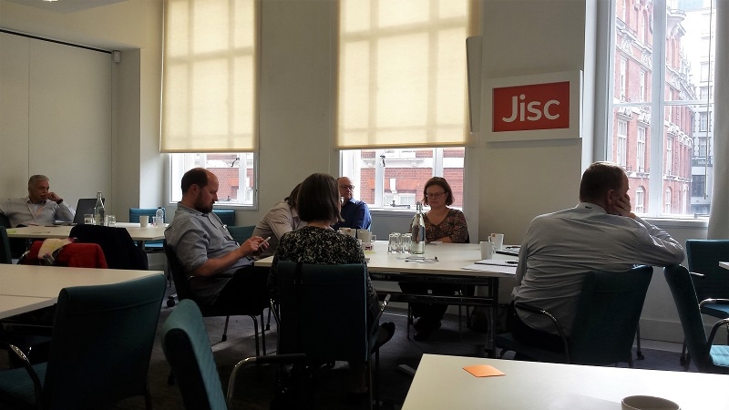 Group discussion in Jisc's London offices