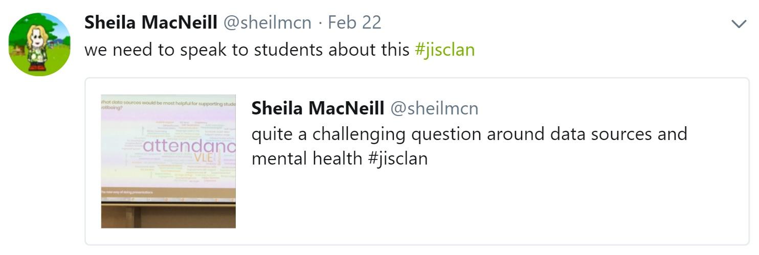 Sheila MacNeill's tweet