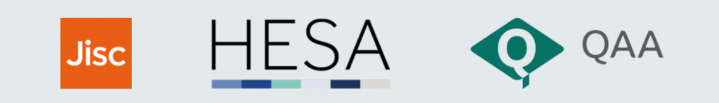 Image showing the logos of Jisc, HESA and QAA
